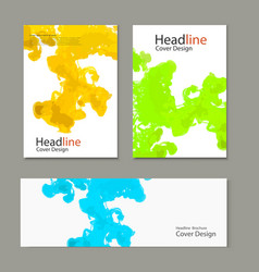 template cover ink in water vector image