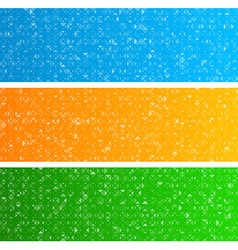Triangles technology banners vector image