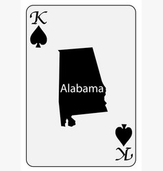 Usa playing card king spades vector