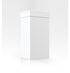 White vertical rectangular box in perspective vector