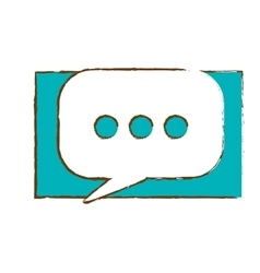 Mobile messaging chat icon image vector
