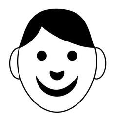 boy icon simple style vector image