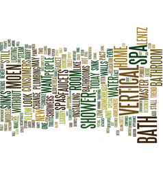 Bathtub repairs faq text background word cloud vector