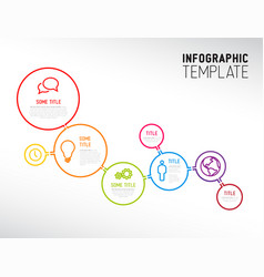 Modern infographic report template made from vector