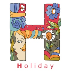 H holiday vector