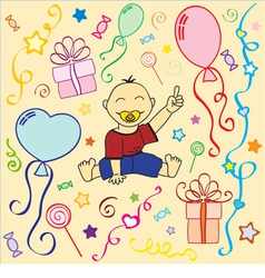 Birthday holiday texture in vector vector