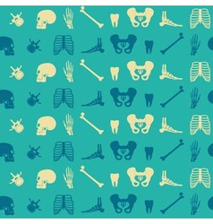 Seamless background with human bones vector