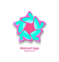 Logo in the shape of a star design element vector
