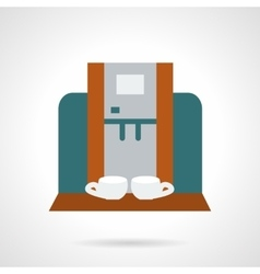 Making coffee for two flat icon vector