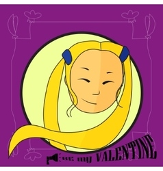 Card be my valentine vector