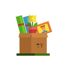 Box With Personal Belongings vector image