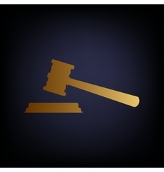 Justice hammer sign vector