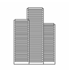 Skyscrapers in Singapore icon outline style vector image