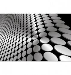 Abstract grey wavy circles background vector