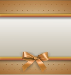 Background with bow gold vector
