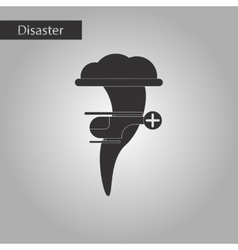 Black and white style icon tornado helicopter vector