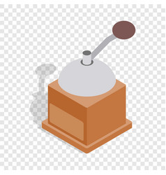 coffee grinder isometric icon vector image