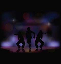 Dancing in a nightclub vector