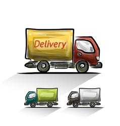 Delivery car set vector image vector image