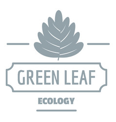 eco leaf logo simple gray style vector image vector image