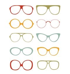 Glasses collection vector image
