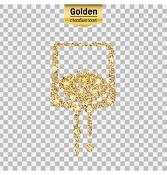 Gold glitter icon vector image