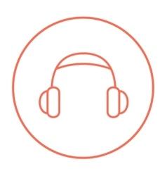 Headphone line icon vector