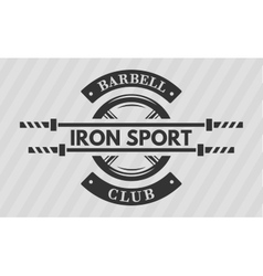 Iron sport disk weight and barbell vector