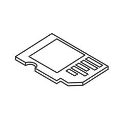 Line micro sd technology to save documents vector