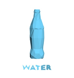 Low poly bottle isolated on white background vector image