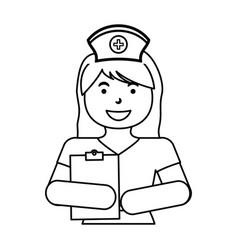 nurse medical profession vector image