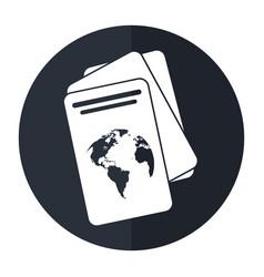 Passport document identification shadow vector