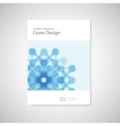 Pattern with abstract figure brochure for vector