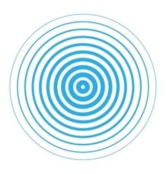Radar screen concentric circle elements vector image vector image