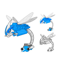 Robot dragonfly vector
