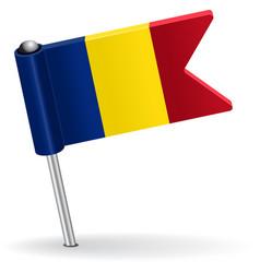 Romanian pin icon flag vector