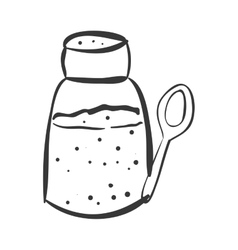 salt shaker icon vector image
