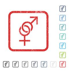 Sex symbol icon rubber watermark vector