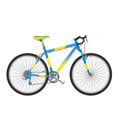 Detailed sport bicycle in trendy flat style vector