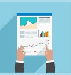 Flat concept by using of business strategy vector