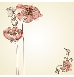 Flowers design for greeting cards vector image