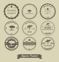 Premium quality organic product vintage label vector