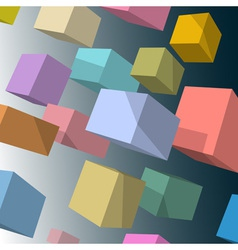 3d colored cubes vector image