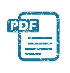 Grunge pdf file icon vector
