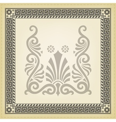 Greek traditional meander border vector