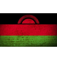 Flags malawi with dirty paper texture vector