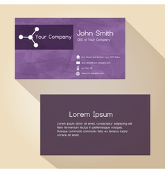 Simple abstract paper color business card design vector