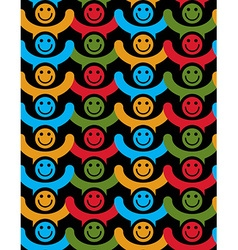 Seamless background with colorful smiley faces vector
