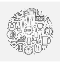 Beer round logo vector