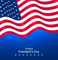 Flag usa waving wind for happy presidents day vector